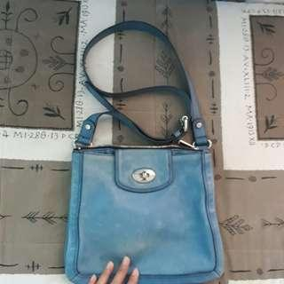 Fossil leather sling bag-For freebie only😊☝