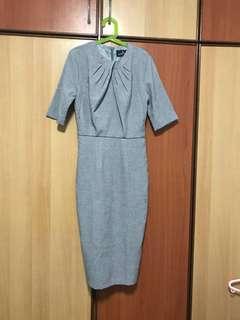 🚚 Executive pencil dress in Grey