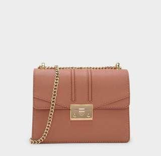Charles and Keith Clip Crossbody Bag