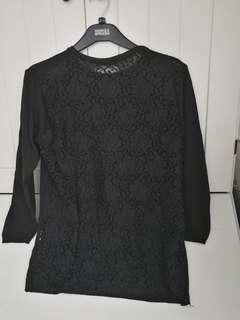 Zara knit back full lace top