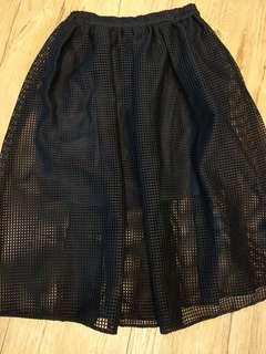 🚚 日牌微透視格子裙