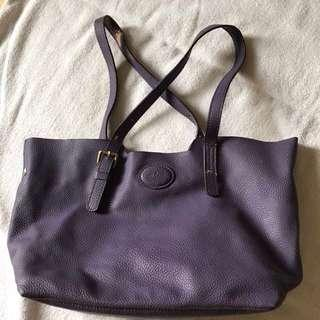 Purple Bag Leather