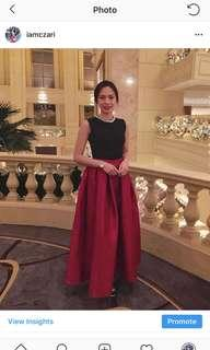 Black Red Gown Dress for Rent