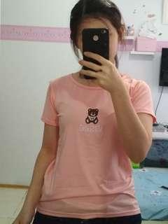 kaos pink moschino