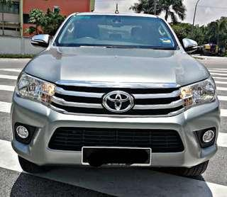 SAMBUNG BAYAR/CONTINUE LOAN  TOYOTA HILUX REVO AUTO FULLSPEC YEAR 2016 MONTHLY RM 1272 BALANCE 7 YEARS 2 MONTHS ROADTAX DEC 2018 LEATHER ELECTRIC SEAT TIPTOP CONDITION  DP KLIK wasap.my/60133524312/revo