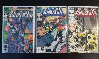 Punisher #1,#2,#3 (1987 2nd Series) Complete Set of 3, 1st Regular Series, Bronze-Age Collectibles, HOT!🔥