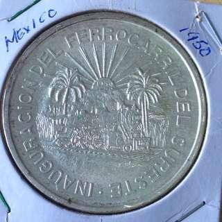 Rare 1950 Mexico 5 Pesos