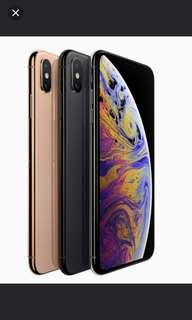 Iphone Xs Max 256 GB any colour
