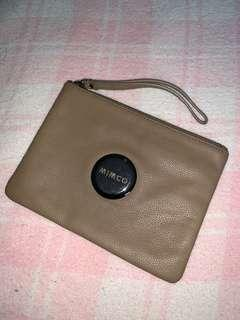 Brown Mimco Medium Pouch