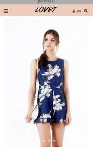 LILY FLORAL ROMPER