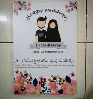 Walldecor kado pernikahan