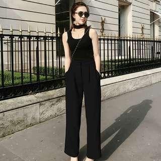 Alice Wang Black Flare Pants M