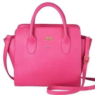 **FREE POSTAGE** AHKAH Hot Pink mini bag BNWOT