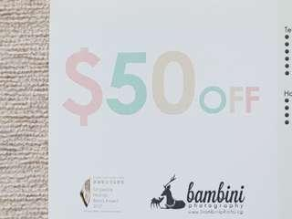 Bambini Photography $50 Off Voucher