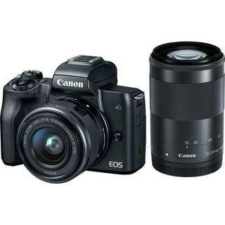 Kredit Canon EOS M50 Mirrorless with 15-45mm and 55-200mm (Black)