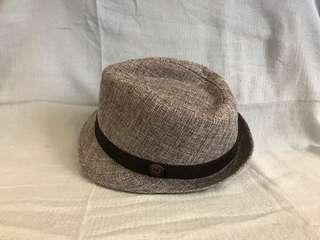 🚚 灰白條紋紳士帽