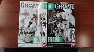 G Frame 01A+01F RX-93 Nu Gundam Armor + Frame set