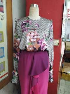 Blouse n wrap skirt