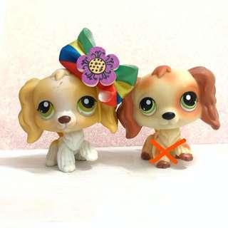 Littlest pet shop cocker spaniels (authentic + accessory)
