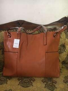 Mango Shopper Bag Original Brown