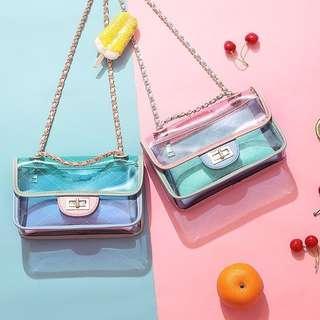 [PO] Holographic Transparent Sling Bag