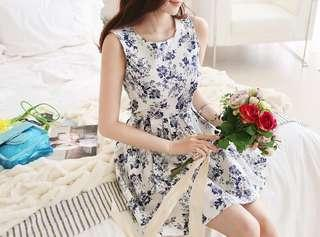 Authentic Korean Floral Dress