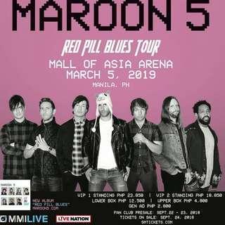 Maroon 5 #RedPillBluesTourMNL