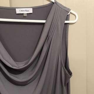 Calvin Klein grey cowl neck top