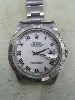 Rolex Datejust 16264  36mm Steel white Roman Dial Watch