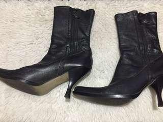 Authentic Miu Miu Double Zippy Spool Heels Booties