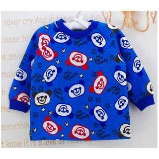 日單藍色小熊全棉上衣