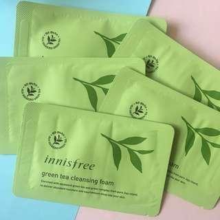 Innisfree Greentea Cleansing Foam (10pcs)