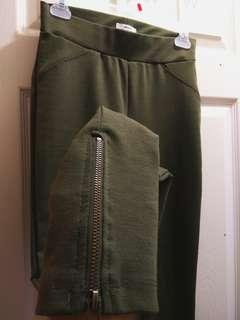 BNWT green leggings with zipper