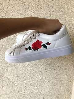 Rose Embroidered Shoe