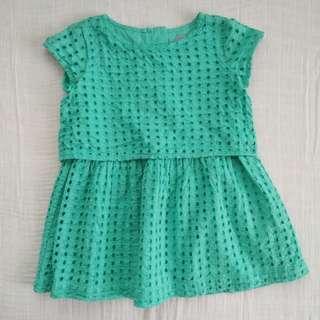 Baby Gap Turquoise Dress