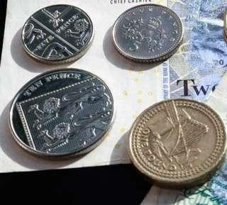 British pounds coins £17