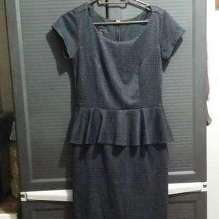 Mango Suit Peplum Dress