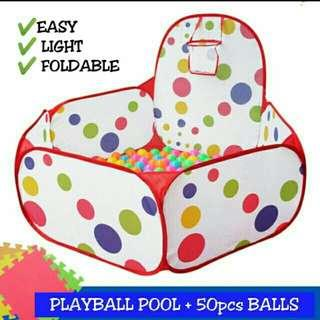 Foldable kids playtent