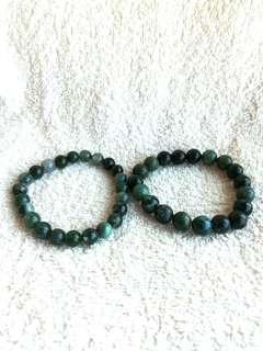 🚚 (Up to 20% Off) Natural Moss Agate Bracelet 全天然的水草玛瑙手链