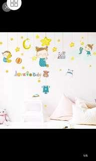 🎁Removable wall sticker Star trapping doll wall sticker Child baby room cute cartoon wall sticker self-adhesive