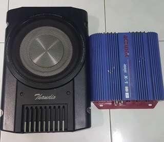 "Subwoofer 8"" + power amp"