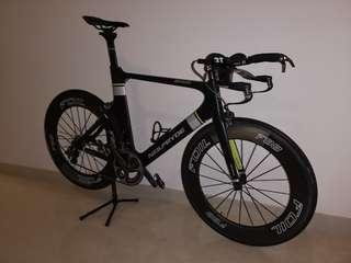 Neilpryde Bayamo Time Trial/Tri bike, size 58, Ultegra 11, 88mm carbone tubular wheelset