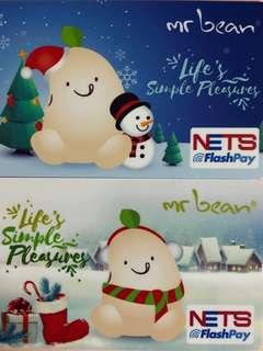 Limited edition brand new Mr Bean Life's Simple Pleasures set of 2 nets flash pay cards with nice card holders for sale.
