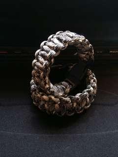 Couple Paracord Bracelet Grey Camo 2 set (man/lady)