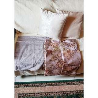2 cushion pillows + 8 covers 16x16