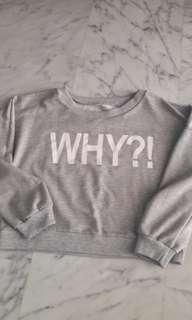 ⚄Grey Crop Top Pullover