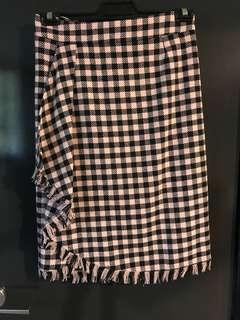 Max and co. Pink check pencil skirt