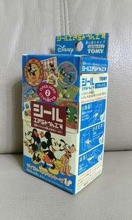 日本Tomy x disney DIY mickey minnier sticker machine 自製貼紙機玩具 米奇米妮