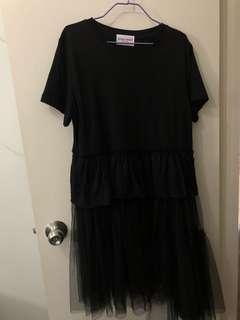 韓國製多層紗上衣