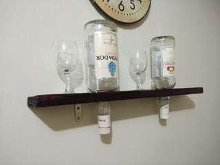Vintage wooden wine rack